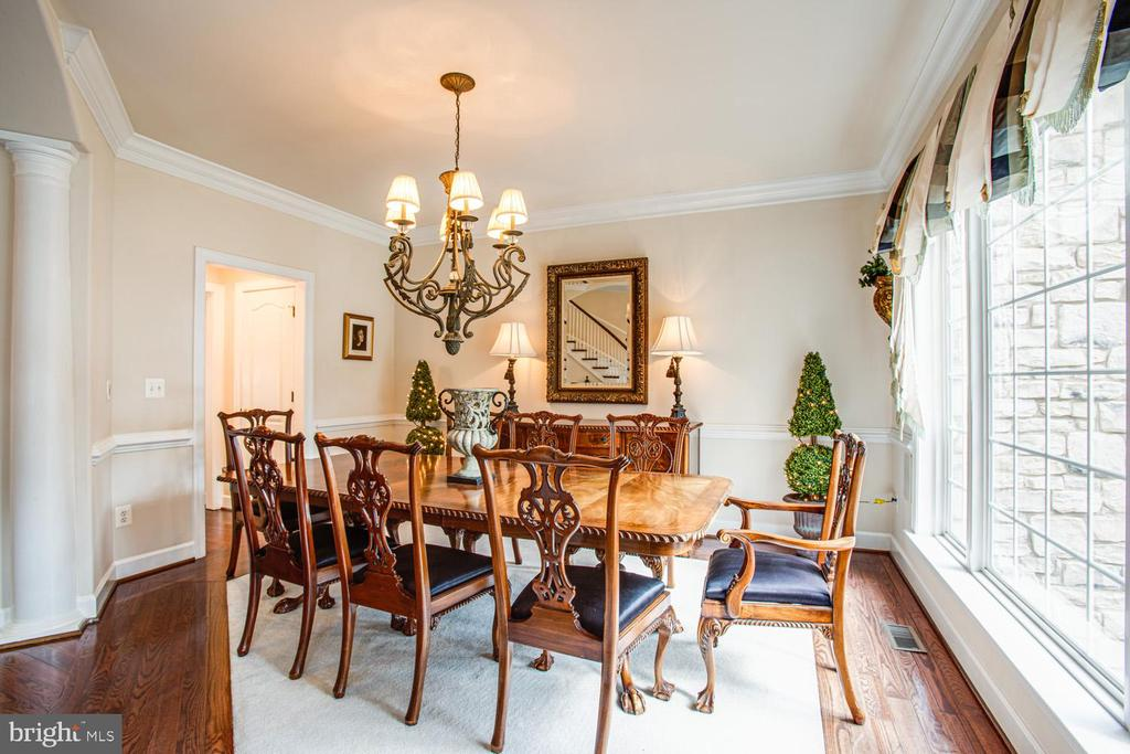 Formal dining room - 11400 STONEWALL JACKSON DR, SPOTSYLVANIA