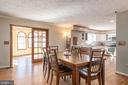 Dinning room open to kitchen & Family room - 42 MOURNING DOVE DR, STAFFORD
