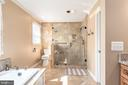 MBath  beautiful glass enclosed shower, heat light - 42 MOURNING DOVE DR, STAFFORD
