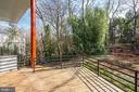 Large Deck Overlooking Backyard - 4708 DORSET AVE, CHEVY CHASE