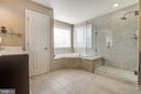 Master Bath  Soak Tub & Sep Shower - 18751 PIER TRAIL DR, TRIANGLE