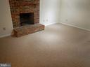 Recreation room in lower level and fireplace - 1510 BOYCE AVE, TOWSON