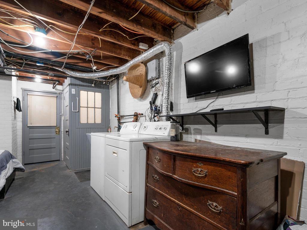 Laundry and storage area - 438 INGRAHAM ST NW, WASHINGTON