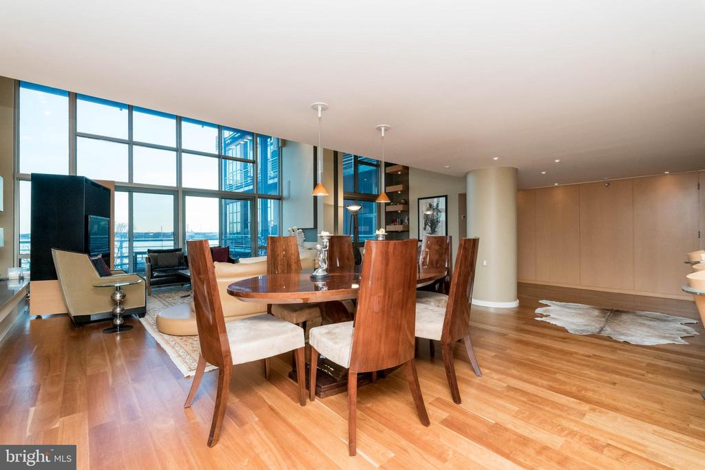 Dining Room enjoys great light and view. - 2901 BOSTON ST #214, BALTIMORE