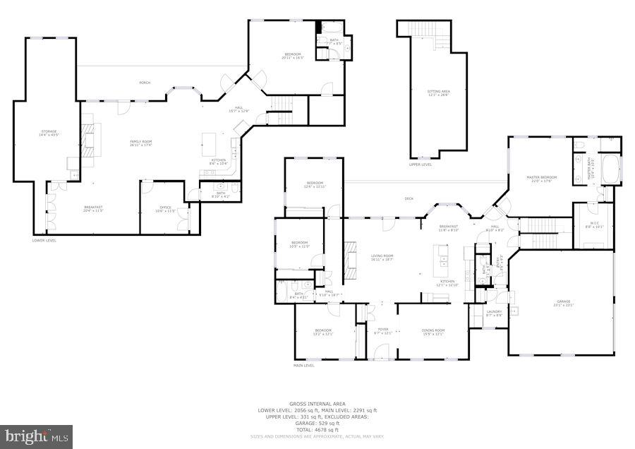 All three levels together - 2407 FLAG MARSH RD, MOUNT AIRY