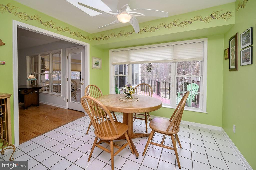 Eat in Kitchen with view of Landscaped backyard. - 509 MT PLEASANT DR, LOCUST GROVE