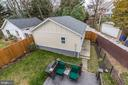 The view down to the yard - 5536 30TH PL NW, WASHINGTON