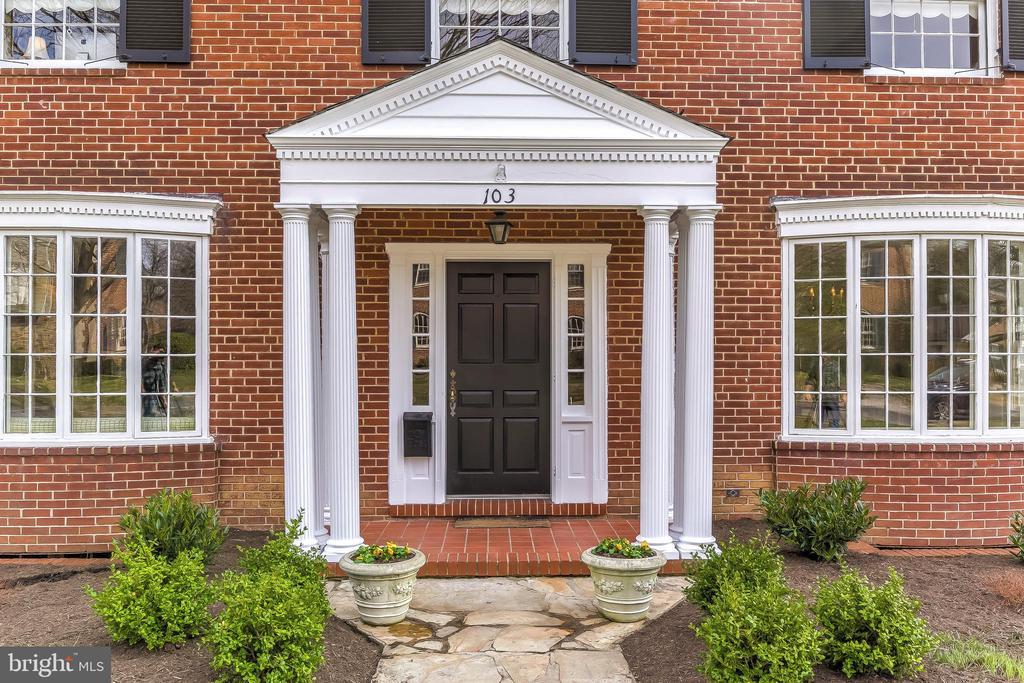 Front Porch with New Columns - 103 SAINT DUNSTANS RD, BALTIMORE