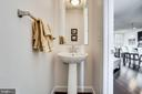 Offer this perfect half bath to guests on main - 44536 STEPNEY DR, ASHBURN