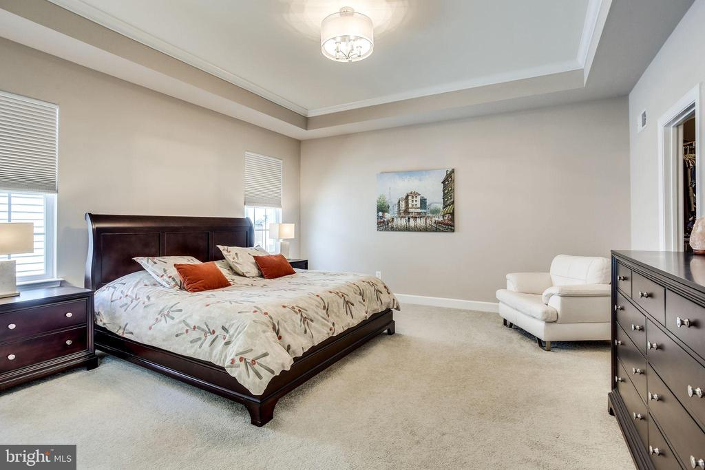 Lounge in your large master bedroom on upper level - 44536 STEPNEY DR, ASHBURN