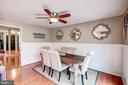 Kitchen - Ceiling Fan! - 1614 OAK SPRING WAY, RESTON