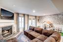 Family Room - Newer Floors, Wood Burning Fireplace - 1614 OAK SPRING WAY, RESTON