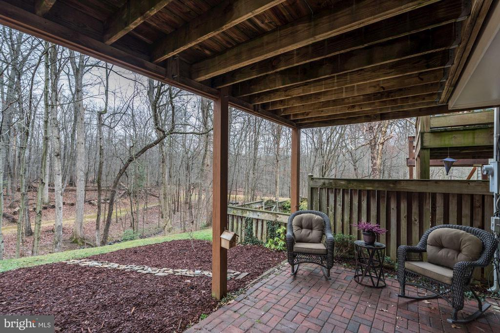 Patio at Lower Level of Home! - 1614 OAK SPRING WAY, RESTON
