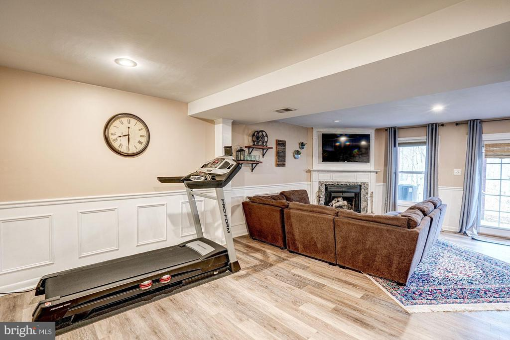 Family Rm w/ New French Doors - Walk-Out Basement - 1614 OAK SPRING WAY, RESTON