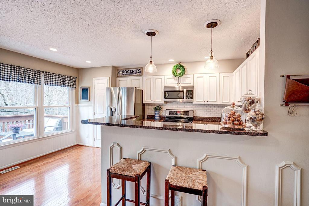 Kitchen - Wall of Windows & Breakfast Bar! - 1614 OAK SPRING WAY, RESTON