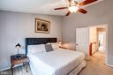 Master Bedroom  - Cathedral Ceiling & Ceiling Fan! - 1614 OAK SPRING WAY, RESTON