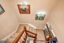 Stairwell Leading from Main Level to Upstairs Lvl - 1614 OAK SPRING WAY, RESTON