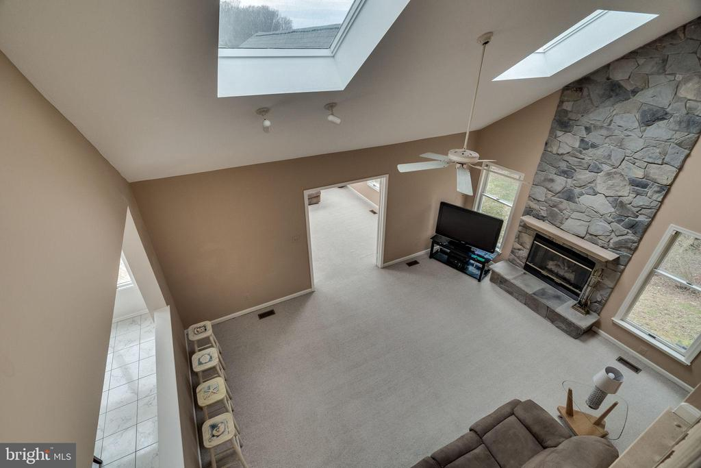 Family Room from Upper Level - 19800 HELMOND WAY, MONTGOMERY VILLAGE
