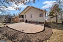 Stamped concrete patio perfect for entertaining. - 200 SAND TRAP LN, LOCUST GROVE