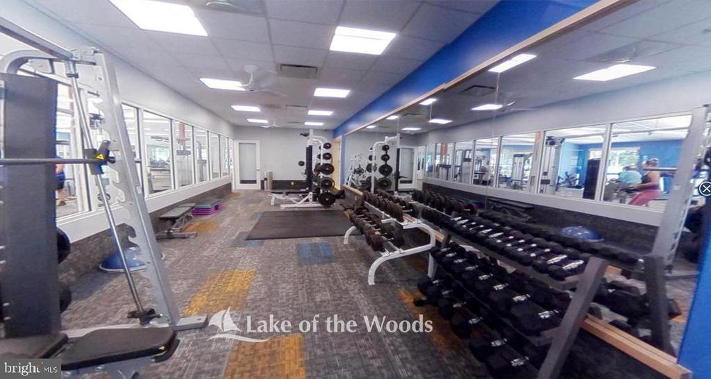 Fitness center. - 200 SAND TRAP LN, LOCUST GROVE
