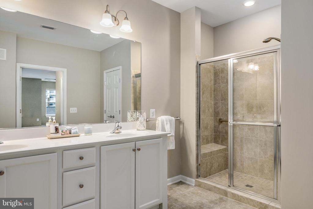 Luxurious Master Bath with step in shower - 20570 HOPE SPRING TER #206, ASHBURN