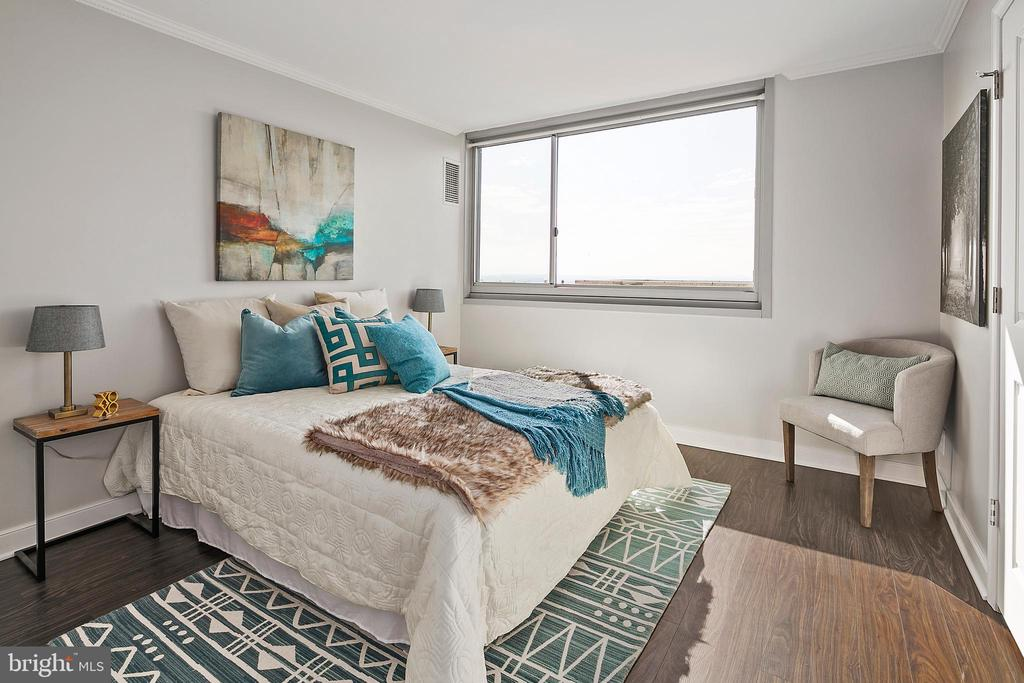 Generous Bedroom 2 - 4601 N PARK AVE #1706, CHEVY CHASE