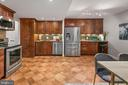 Kitchen w Stainless Steel Samsung Appliances - 4601 N PARK AVE #1706, CHEVY CHASE