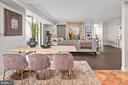 Open Floor Plan Dining, Living Area - 4601 N PARK AVE #1706, CHEVY CHASE