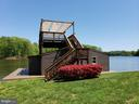 Covered/Enclosed Boathouse with Sun Deck - 6505 MATTHEW LN, MINERAL