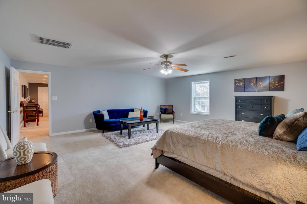 Basement Bedroom: Windows, Fan & Carpeting - 81 SENTINEL RIDGE LN, STAFFORD