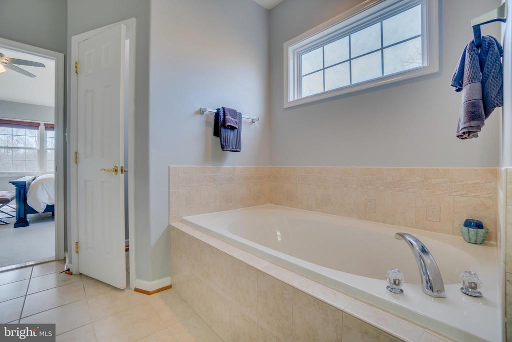Master Bathroom: Accent Window & Linen Closet - 81 SENTINEL RIDGE LN, STAFFORD