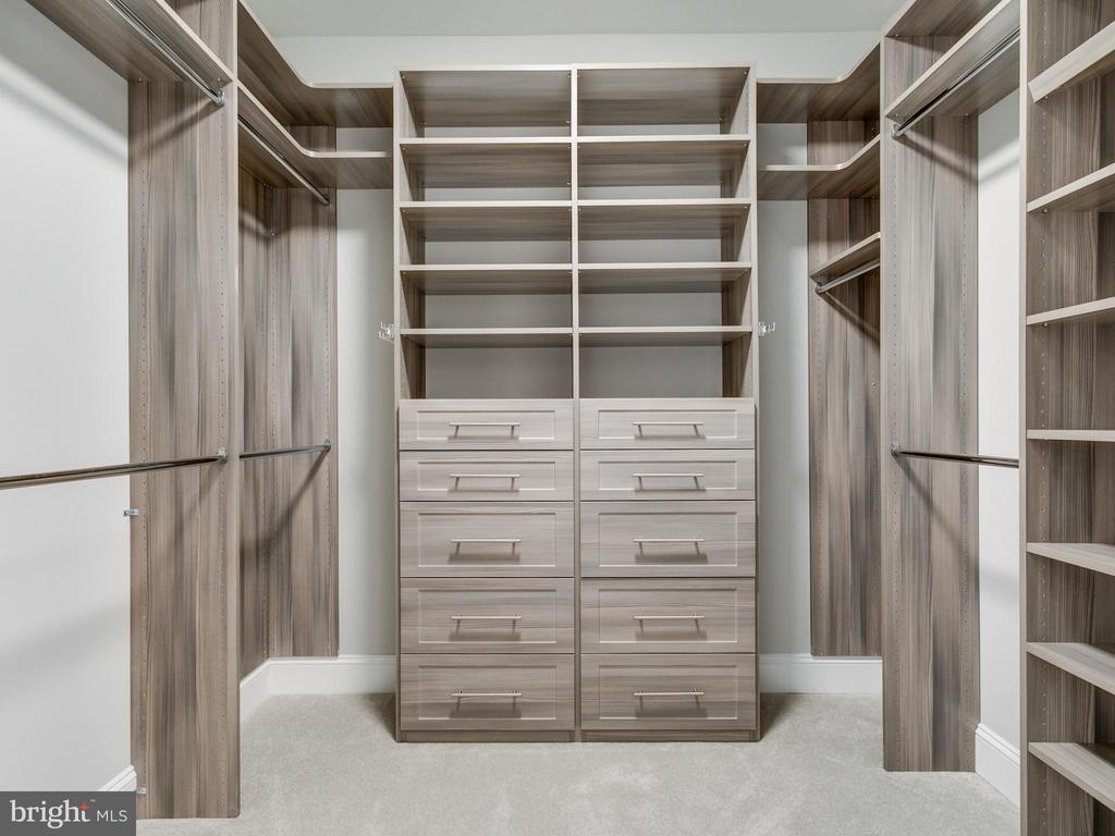 master walk-in closet with custom organization - 9978 BLACKBERRY LN, GREAT FALLS