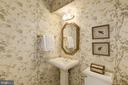 pretty powder room on lower level - 3818 N RANDOLPH CT, ARLINGTON