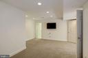 flexible lower level room for gym or Zoom room - 3818 N RANDOLPH CT, ARLINGTON