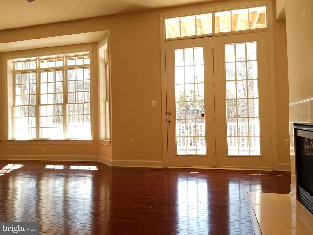 View from Family Room & Fire Place - Main Level - 18213 CYPRESS POINT TER, LEESBURG