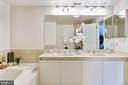 Master bath with dual sink vanity - 5600 WISCONSIN AVE #902, CHEVY CHASE