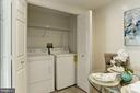 In-unit laundry space - 5600 WISCONSIN AVE #902, CHEVY CHASE