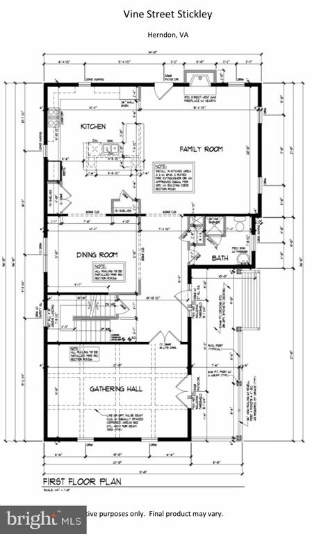 Main Level - LOT 55A VINE STREET, HERNDON