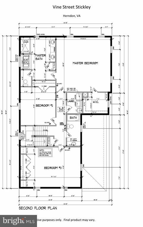 Upper level - LOT 55A VINE STREET, HERNDON