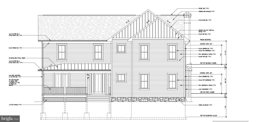 Stickley model front elevation - LOT 55A VINE STREET, HERNDON