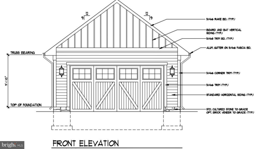Detached garage elevation - LOT 55A VINE STREET, HERNDON