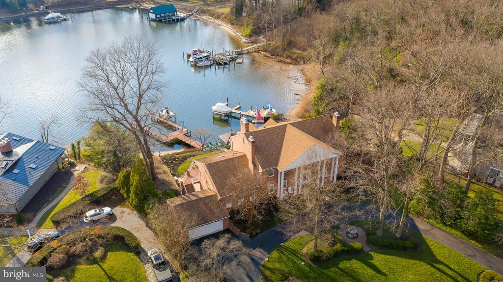 Aerial View of House on Asquith Bay - 1128 ASQUITH DR, ARNOLD