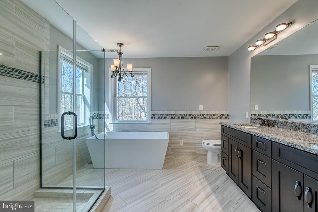 Newly finished master spa bathroom - 11 LINDSEY LN, STAFFORD