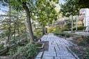 Tiered flagstone patios - 2607 31ST ST NW, WASHINGTON