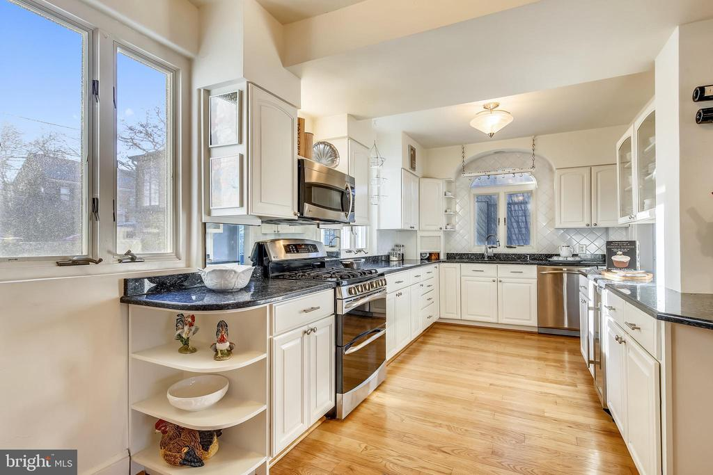 Kitchen with stainless steel appliances - 2607 31ST ST NW, WASHINGTON