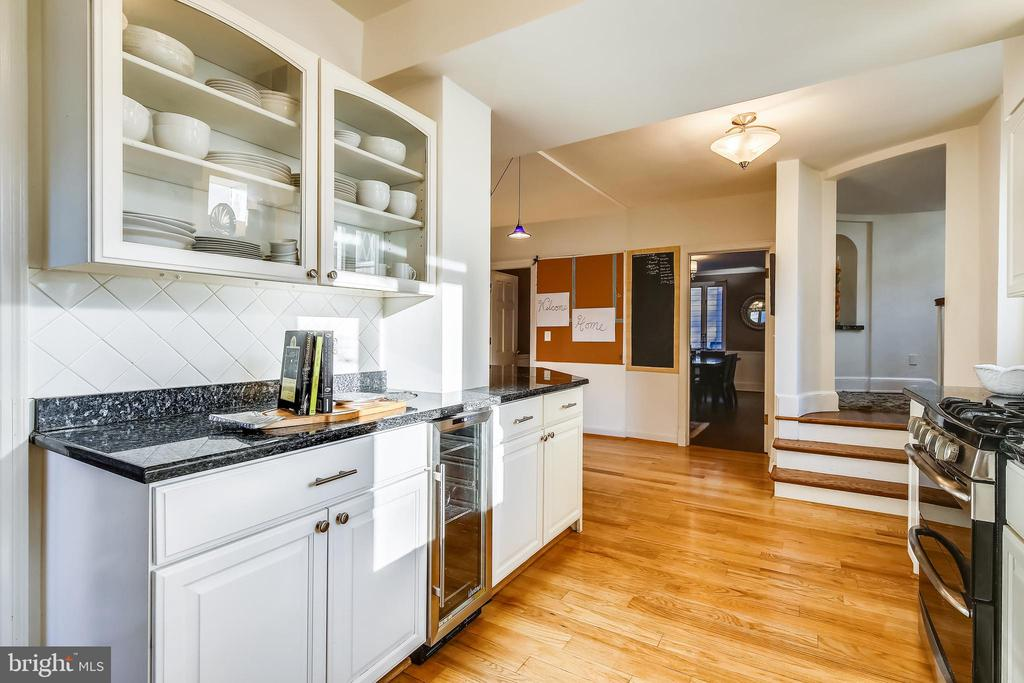 Kitchen with hardwood flooring - 2607 31ST ST NW, WASHINGTON