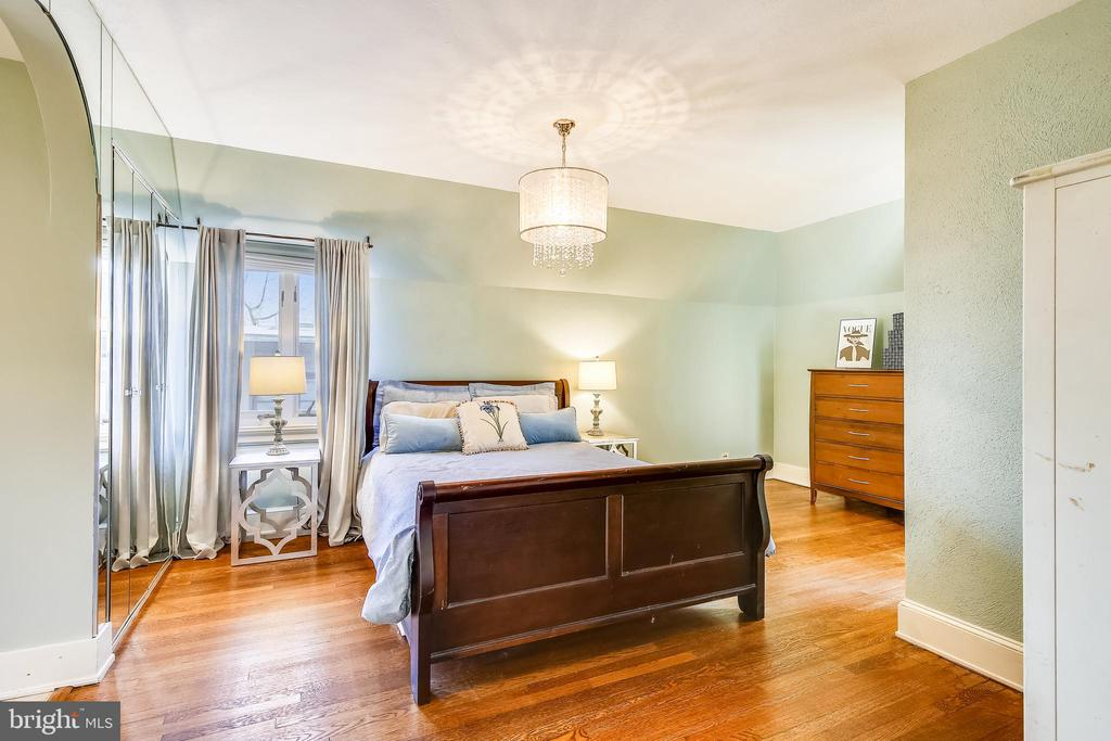 Master bedroom with hardwood flooring - 2607 31ST ST NW, WASHINGTON