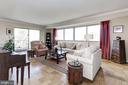Very generous Living Room with Balcony - 5100 DORSET AVE #505, CHEVY CHASE