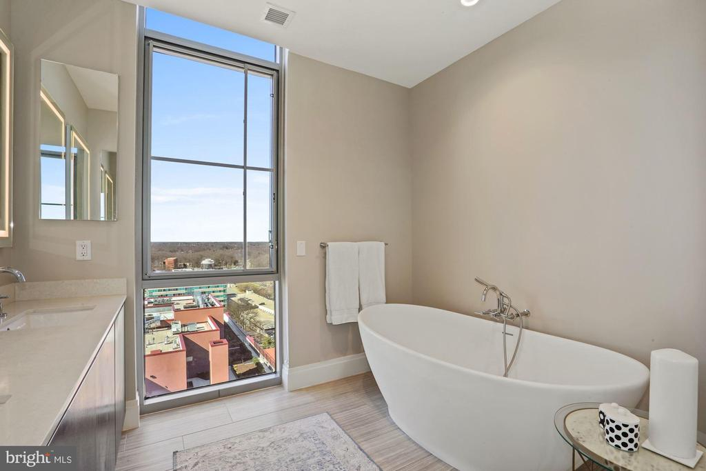 Relax in the soaking tub with a view - 930 ROSE AVE #PH2102, ROCKVILLE