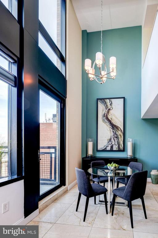 Dining Area With Double Height Ceiling - 912 F ST NW #1106, WASHINGTON